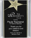 Black/Gold Star Acrylic Award Recognition Plaque Achievement Awards
