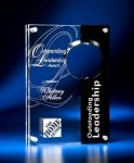 Circle Cutout Clear and Black Acrylic Award Achievement Awards