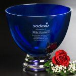 Cobalt Pedestal Bowl Boss Gift Awards