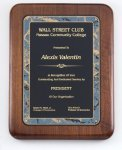 Walnut Corporate Plaque Employee Awards