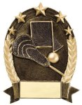 5 Star Oval Lacrosse Generic La Crosse Trophy Awards