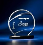 Bent Wire Circle on Black Acrylic Base Modern Design Awards